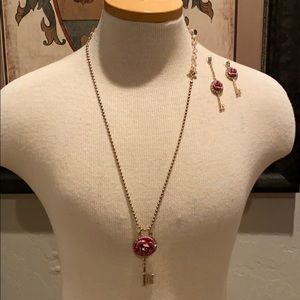 Betsey Johnson necklace and earring set